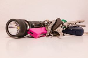 flashlight in your keychain