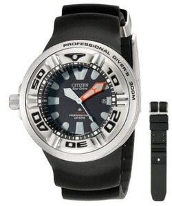 Image of Men's BJ8050-08E Eco-Drive Professional Diver Black