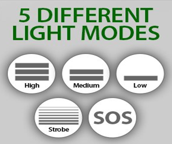 5 different light modes